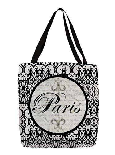 Thumbprintz Shopping Tote, 18-Inch, Paris Circle Damask front-609827