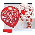 10 Stück SWEETHEART Latex - Luftballons, rund, Helium geeignet, 75/85 cm Umfang