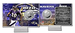 Baltimore Ravens Ed Reed Silver Coin Card
