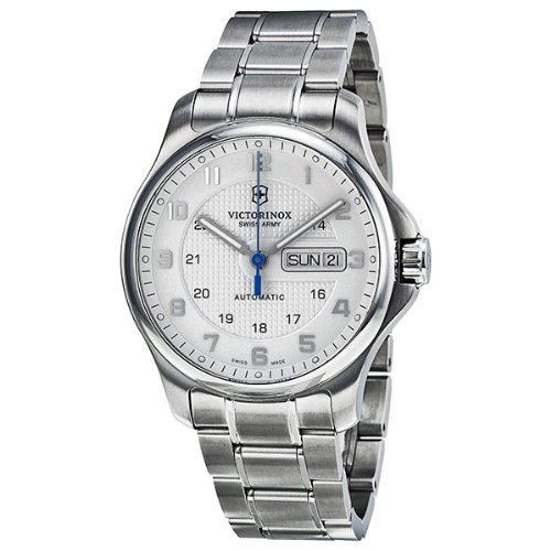 Victorinox Swiss Army Men's 241548.1 Steel Officers Automatic Analog White Dial Watch