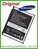 Original - SAMSUNG AB653850CU Akku Li-Ion 1500 mAh für Samsung GT-i7500 Galaxy / GT-i8000 Omnia II / GT-i9023 Google Nexus S / Player Addict / SGH-i900 Omnia - Geld-Zurück-Garantie!