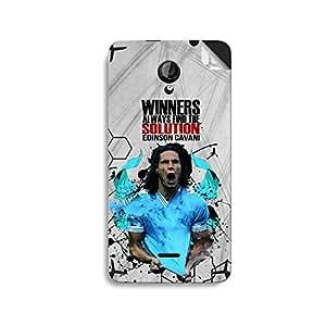 ezyPRNT Micromax Unity 2 A106 Edinson Cavani Winner Football Player mobile skin sticker