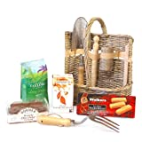 The Gardeners Tea & Coffee Break Hamper - Premium Wicker Garden Tool Basket Set with Hampstead Organic English Breakfast Tea, Taylors of Harrogate Ground Coffee & Biscuits - Gardening Gifts & Christmas Xmas Hampers for Her, Him, Men, Women, Thank You, Re