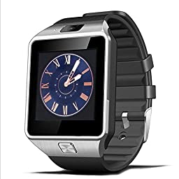 Padgene Bluetooth Smart Watch with Camera for Samsung S5 / Note 2 / 3 / 4, Nexus 6, Htc, Sony and Other Android Smartphones, Black