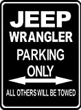 Custom parksign - Parking Only JEEP WRANGLER - parking lot sign. (ALL FIXING INCLUDED)(Extra Large Size:32cm x 24cm)