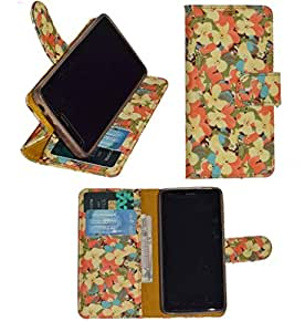 R&A Pu Leather Wallet Flip Case Cover With Card & ID Slots & Magnetic Closure For LG K7