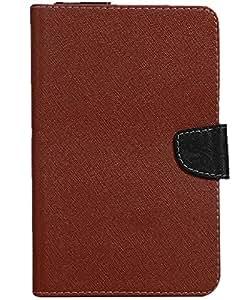 Jkobi Exclusive Tablet Book Flip Case Cover For Lava Xtron Z704 (Universal) -Brown
