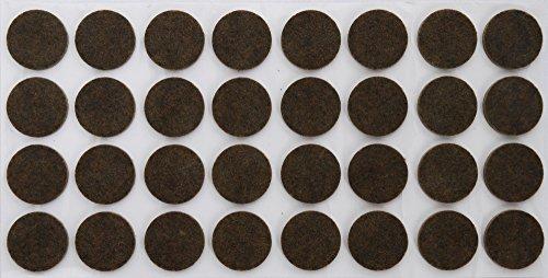 32-patin-en-feutre-rond-oe-26-mm-marron-35-mm-depaisseur-patins-protecteurs-adhesifs-en-feutre-marro