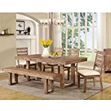 Magnify the trendy look of your dining area with this modern three piece group. It provides a storage base which helps to save space. Utilize the butterfly table leaf to expand or contract the table to meet your needs. Combine this table with...