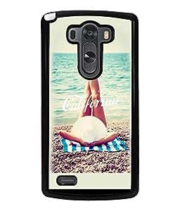 Printvisa Girl Relaxing On A Beach Back Case Cover for LG G3::LG G3 D855