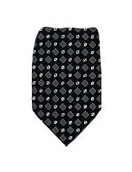 DT-385 - Black - Gray - Mens Donald Trump Silk Necktie coupons 2015