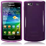 Purple Tpu Gel Case Cover For Samsung Wave 3 S8600 PART OF THE QUBITS ACCESSORIES RANGEby TERRAPIN
