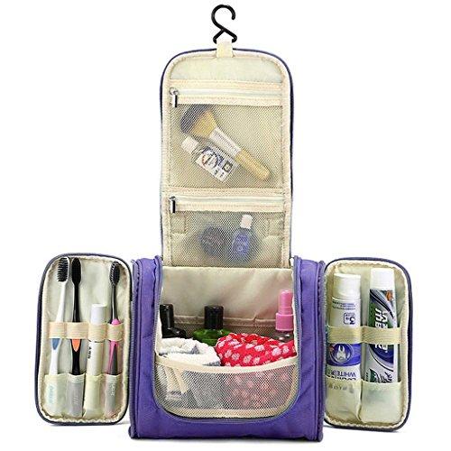 Hipiwe Beauty Case da Viaggio Borsa da Toilette Impiccagione Outdoor Pratico Cosmetici Borsa da Viaggio per Accessori Bagno (Viola)