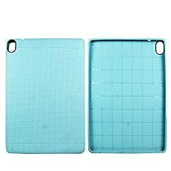 Heartly New Retro Dotted Design Hole Soft TPU Matte Bumper Back Case Cover For HTC Google Nexus 9 Tablet - Light Blue