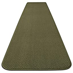 Skid-resistant Carpet Runner - Olive Green - 4 Ft. X 27 In. - Many Other Sizes to Choose From