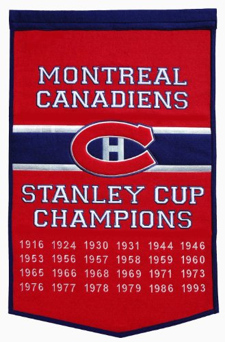 """Winning Streak Montreal Canadiens Dynasty Banner - """"Montreal Canadiens"""" 24 x 36 Inches"""