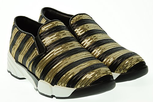 PINKO donna slip on 1H207J Y23Z ZH2 DIAMANTE 37 Nero-Oro