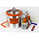 3 Gallon 4 CFM 2 Stage Vacuum Chamber Kit to Degass Urethanes, Silicones and Epoxies