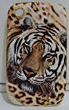 Tiger Face Hard Back Case / Yellow for Blackberry 8520 Curve by 3a-accessories