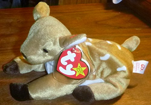 TY Beanie Babies Whisper the Deer Plush Toy Stuffed Animal - 1