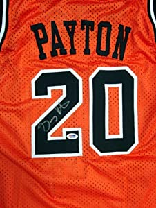 Gary Payton Autographed Hand Signed Oregon State Beavers Orange Jersey PSA DNA by Hall of Fame Memorabilia