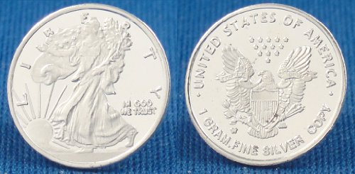(3) 1 Gram .999 Pure Fine Solid Silver U.S. Eagle Walking Liberty Design Bullion Ingot Coin