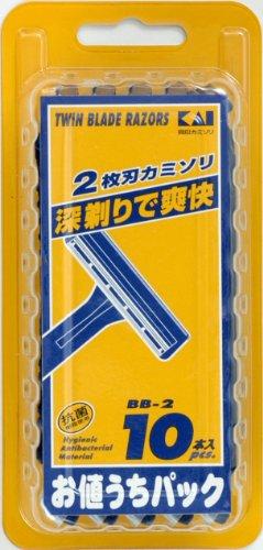 KAI 2枚刃カミソリ BBー2 10個