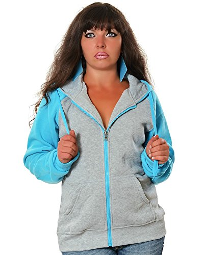 damen hoodie kapuzen pullover sweat jacke no 13002 farbe. Black Bedroom Furniture Sets. Home Design Ideas