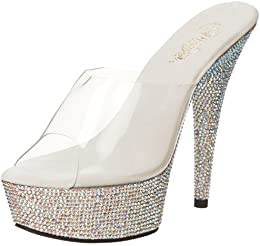 Pleaser Women s Bejeweled 601DM Platform Sandal