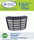 Shark NV351 HEPA Filter Designed To Fit Shark Navigator Lift-Away NV351, NV352, NV400; Replaces Shark Part# XHF350; Designed & Engineered By Crucial Vacuum