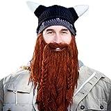 Beard Head Barbarian Pillager Beanie, Brown, One Size