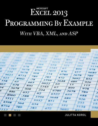Microsoft Excel 2013 Programming by Example with VBA, XML, and ASP (Computer Science) (Vba Programming 2013 compare prices)