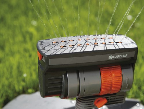 gardena zoommaxx oscillating sprinkler on metal step spike. Black Bedroom Furniture Sets. Home Design Ideas
