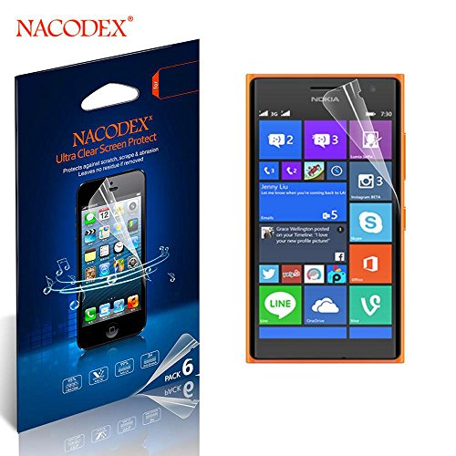 Nacodex® 6X Hd Clear Screen Protector Cover Film For Nokia Lumia 730 Superman Lcd Cover Guard Shield [ 100% High Quality In New Box ] [ 6Pcs Screen Protectors + 2X Cleaning Cloth + 1X Smoothing Card] [ W/Tracking No.]