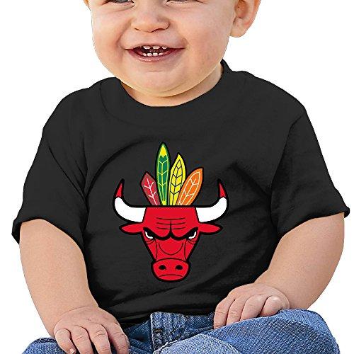 [DVPHQ Baby's Chicago Bulls Blackhawks T-shirt Tops Little Unisex Black Size 12 Months (6-24 Months)] (Infant Sylvester Costumes)