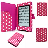 Semoss Polka Dots Smart Leather Case Cover with Auto Sleep and Wake Function for Kindle Paperwhite 2012 Version Red and White
