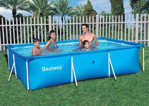 Intex pool komplett set bestway 56043 frame pool for Pool komplett set stahlwand