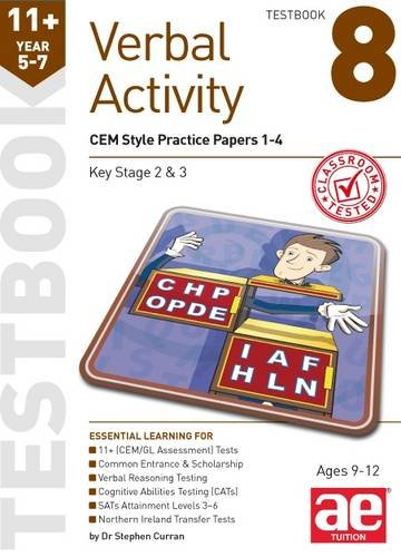 11+ Verbal Activity Year 5-7 Testbook 8: CEM Style Practice Papers 1-4