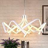KJLARS-AcrylMetall-spiral-Kronleuchter-satinierte-Pendelleuchte-Moderne-LED-Pendellampe-Minimalismus-Hngelampe-Leuchtmittel-76CM