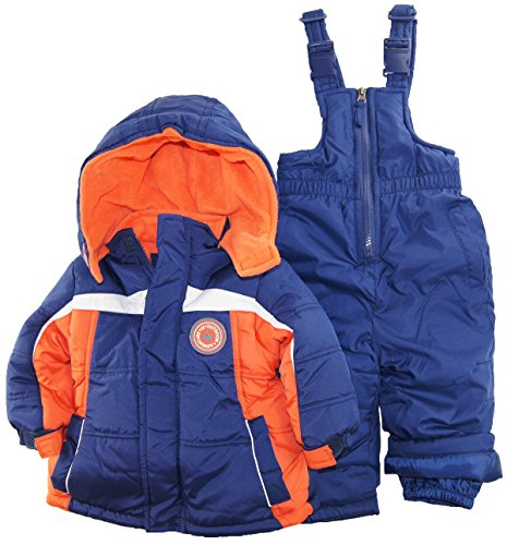 Ixtreme Baby Boys Infant Contrast Two Piece Snowsuit, Navy, 18 Months front-883195