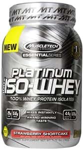 MuscleTech Platinum 100% ISO Whey Supplement, Strawberry Shortcake, 1.75 Pound