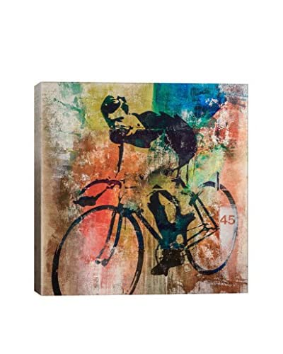 Francis Ward Bike Race Gallery Wrapped Canvas Print