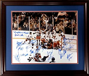 1980 USA Olympic Hockey Team Signed by ALL 20 team members & Inscribed Always...