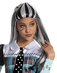 Monster High Frankie Stein Girls Wig