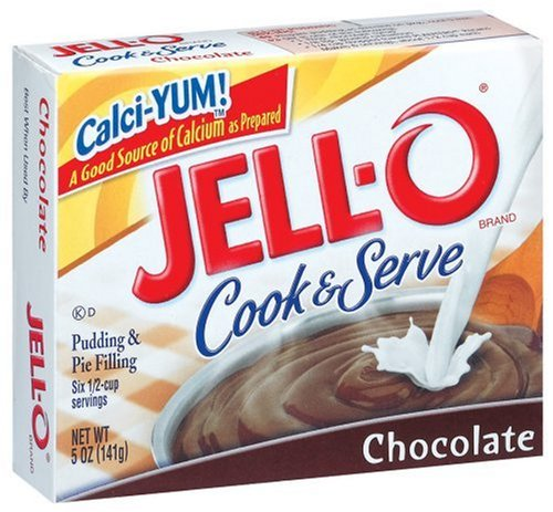 Buy Jell-O Cook & Serve Pudding & Pie Filling, Chocolate, 5-Ounce Boxes (Pack of 24) (JELL-O, Health & Personal Care, Products, Food & Snacks, Baking Supplies, Pie & Cobbler Fillings)