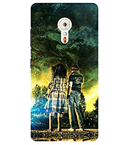 Chiraiyaa Designer Printed Premium Back Cover Case for Lenovo ZUK Z2 (painting boy girl) (Multicolor)
