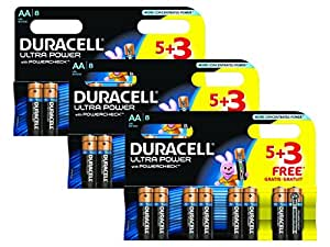 Duracell MX1500 Ultra Power AA Size Batteries--Pack of 24