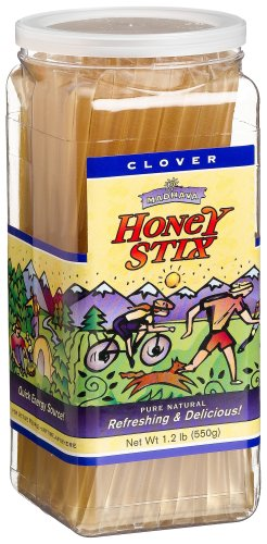 Madhava Honey Stix, Pure Natural Clover Honey, 100-Count Jars (Pack of 2)