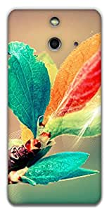The Racoon Grip blooming branch hard plastic printed back case / cover for HTC One (E8)