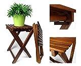 """2er Set Klapphocker """"Lina"""" Beistelltisch Gartenhocker aus Eukalyptusholz"""